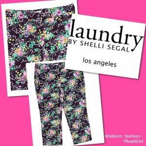 NWT💗 Casual Floral and Black Print Pants Size 6